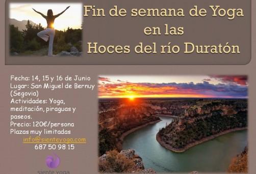 Fin de semana de Yoga en las Hoces del Río Duratón
