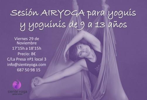 Sesión Air Yoga de 9 a 13 años