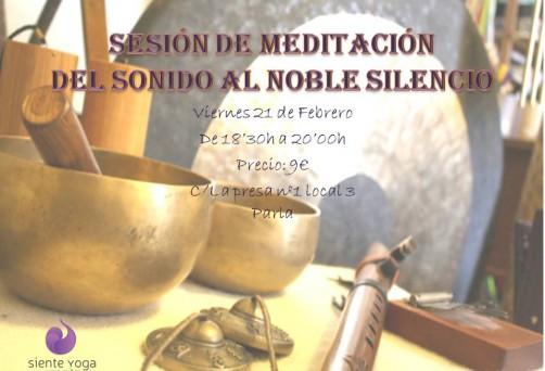 """Sesión mensual de Meditación: del sonido al """"Noble Silencio"""""""