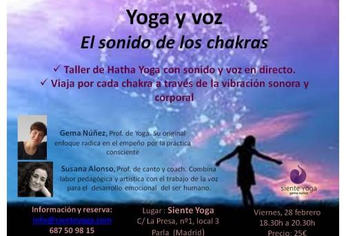 Taller de yoga y voz